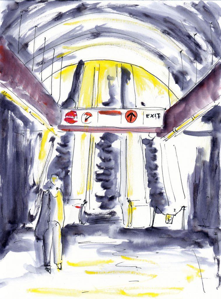 V metru - Můstek